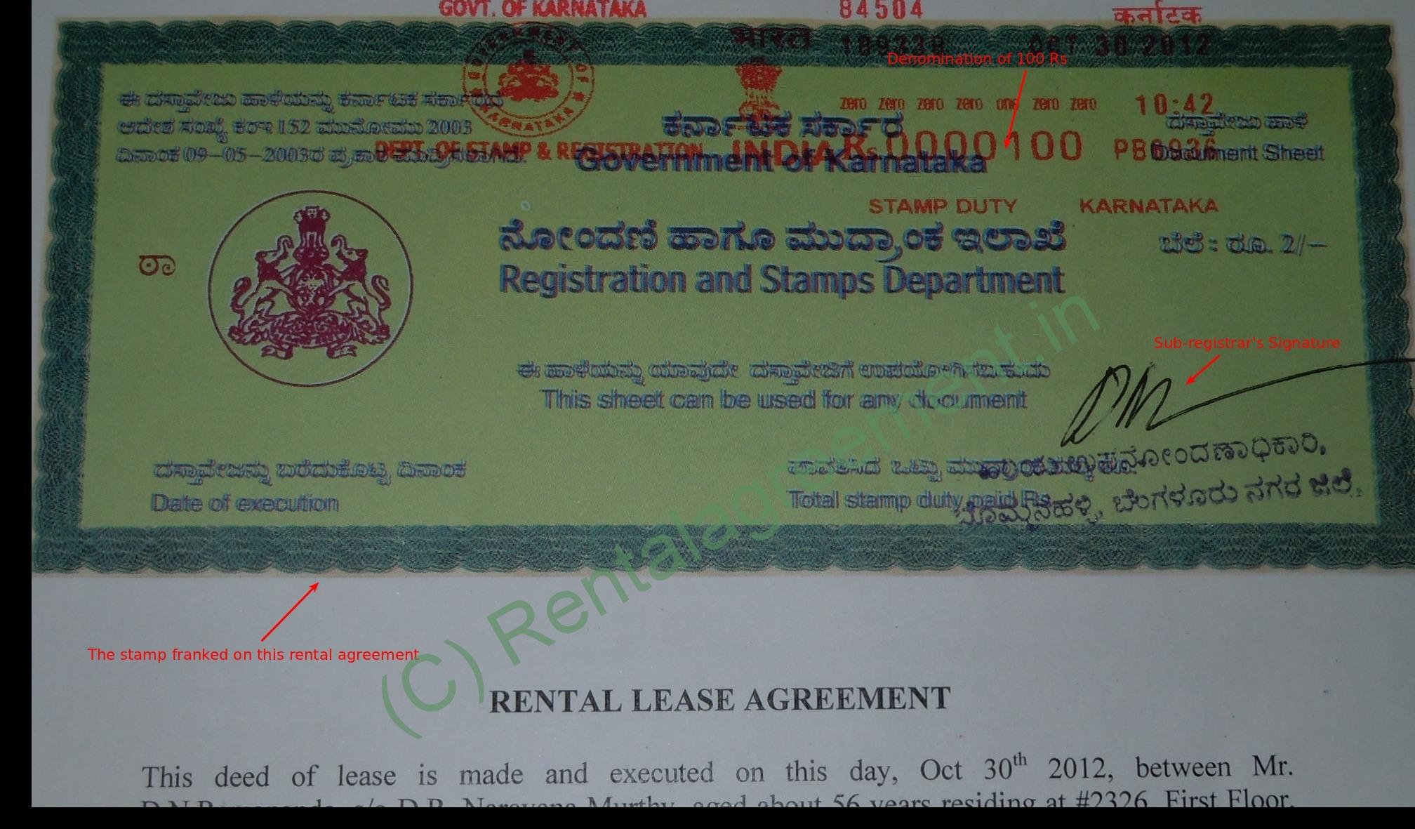 Stamp Paper Agreement Amp Affidavit Bangalore Karnataka